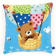Hot Air Balloon Cushion - Vervaco Cross Stitch Kit