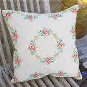 Garland and Roses Cushion - Vervaco Cross Stitch Kit