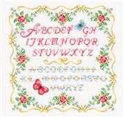 Vervaco Alphabet and Roses Cross Stitch Kit