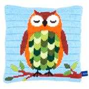 Sleeping Owl Cushion - Vervaco Long Stitch Kit