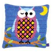 Owl at Night Cushion - Vervaco Long Stitch Kit
