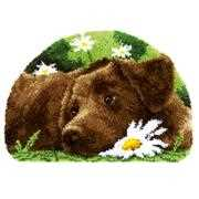 Vervaco Chocolate Labrador Rug Latch Hook Kit