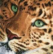 Lanarte Leopard - Evenweave Cross Stitch Kit