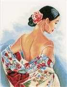 Lanarte Flower Scarf - Aida Cross Stitch Kit