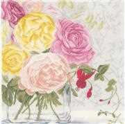Lanarte Pastel Flowers Cross Stitch Kit