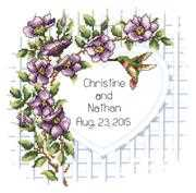 Janlynn Garden Trellis Wedding Sampler Cross Stitch Kit