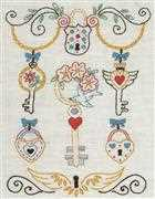 Anchor Keys Wedding Sampler Embroidery Kit