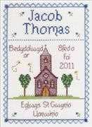 Christening Boy - Nia Cross Stitch Cross Stitch Kit