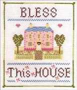 Bless This House - Nia Cross Stitch Cross Stitch Kit