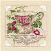 RIOLIS Raspberry Tea Cross Stitch Kit