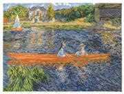 Renoir - The Skiff - DMC Cross Stitch Kit