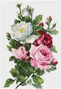 Luca-S Bouquet of Roses Cross Stitch Kit