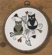 Love Owls - Permin Cross Stitch Kit