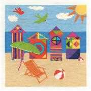 Bright Beach Huts - DMC Cross Stitch Kit