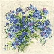 RIOLIS Forget Me Nots Cross Stitch Kit