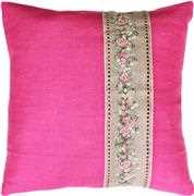 Luca-S Rose Band Pillow - Pink Cross Stitch Kit