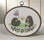 Hedgehogs - Permin Cross Stitch Kit