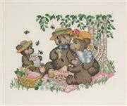 Teddy Picnic - Permin Cross Stitch Kit