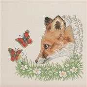 Fox and Butterflies - Permin Cross Stitch Kit