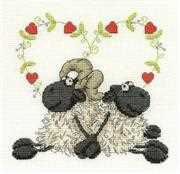 DMC Love You Too Wedding Sampler Cross Stitch Kit