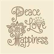 Janlynn Peace Love Happiness Embroidery Kit