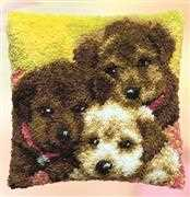 Pako Three Puppies Cushion Latch Hook Kit