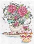 Teacup Roses - Design Works Crafts Cross Stitch Kit