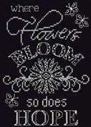 Bloom Chalkboard - Design Works Crafts Cross Stitch Kit