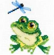 RIOLIS Happy Bee Little Frog Cross Stitch Kit