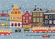 RIOLIS Tram Route Cross Stitch Kit