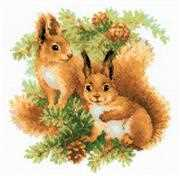 RIOLIS Squirrels Cross Stitch Kit