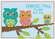 Little Owl Birth Record - Dimensions Cross Stitch Kit