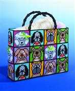 Design Works Crafts Dog Plastic Canvas Tote Tapestry Kit