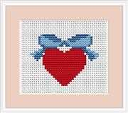 Luca-S Heart Mini Kit Wedding Sampler Cross Stitch