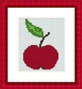 Luca-S Apple Mini Kit Cross Stitch