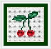 Luca-S Cherries I Mini Kit Cross Stitch