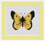 Luca-S Butterfly Mini Kit Cross Stitch