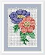 Luca-S Anemone Mini Kit Cross Stitch