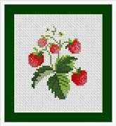Luca-S Strawberries Mini Kit Cross Stitch