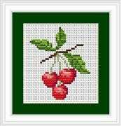 Luca-S Cherries II Mini Kit Cross Stitch