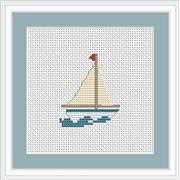 Boat Mini Kit - Luca-S Cross Stitch Kit