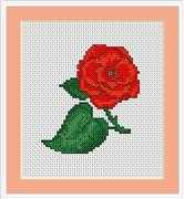 Luca-S Rose Mini Kit Cross Stitch