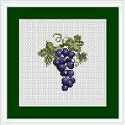 Luca-S Grapes Mini Kit Cross Stitch