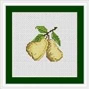 Luca-S Pears Mini Kit Cross Stitch