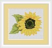 Luca-S Sunflower Mini Kit Cross Stitch