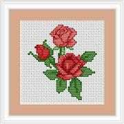 Luca-S Roses Mini Kit Cross Stitch