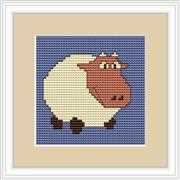 Luca-S White Sheep Mini Kit Cross Stitch