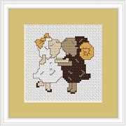 Luca-S Sheep in Love Mini Kit Wedding Sampler Cross Stitch