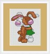 Luca-S Bunnies Mini Kit Wedding Sampler Cross Stitch