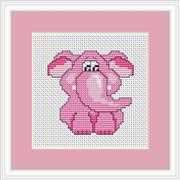 Pink Elephant Mini Kit - Luca-S Cross Stitch Kit
